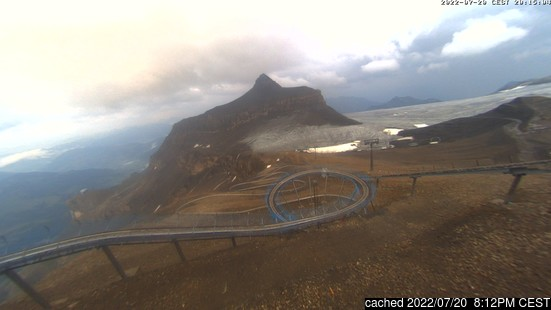 Live Snow webcam for Gstaad Glacier 3000