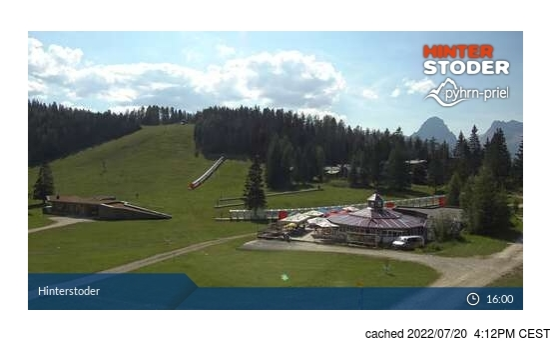 Live webcam para Hinterstoder se disponível