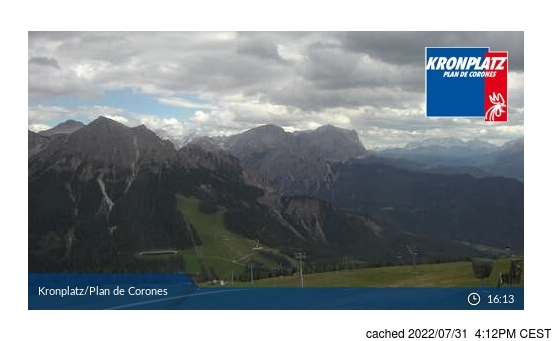 Live Snow webcam for Kronplatz