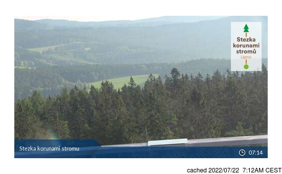 Live Sneeuw Webcam voor Lipno - Kramolín