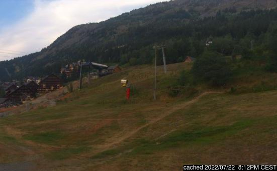 Live Snow webcam for Oz en Oisans