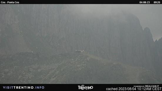 Passo Rolleの雪を表すウェブカメラのライブ映像