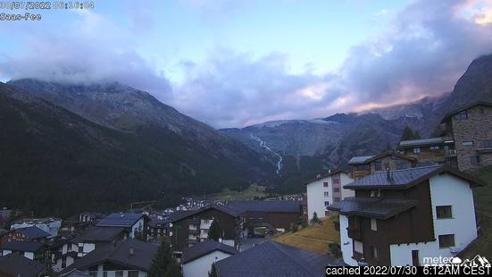 Live Snow webcam for Saas Fee