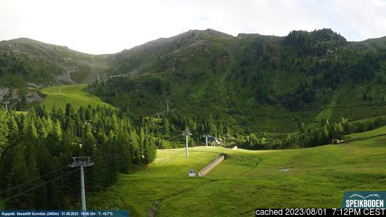 Speikbodenの雪を表すウェブカメラのライブ映像