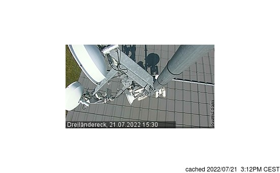 Live webcam per Dreilaendereck se disponibile