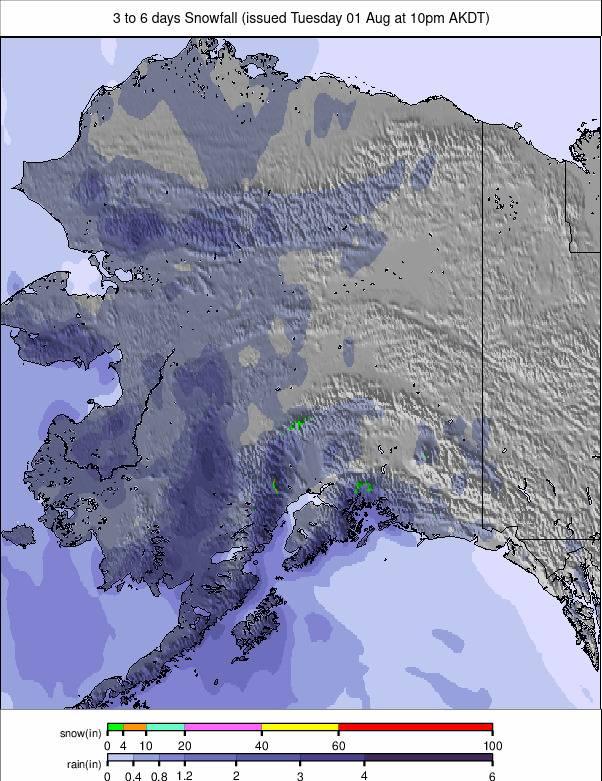 North America 6 days precipitation #rainfall #USA (Precipitatii America de Nord 6 zile)