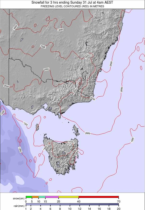 Australia - all SE weather map - click to go back to main thumbnail page