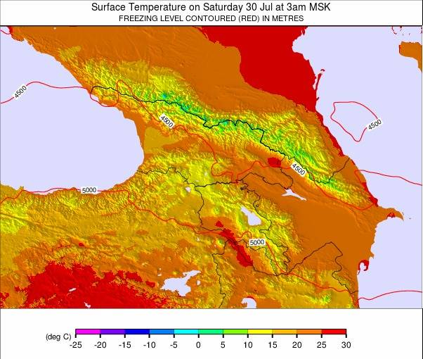 Caucasus weather map - click to go back to main thumbnail page