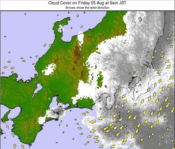 Central Honshu weather map - click to go back to main thumbnail page