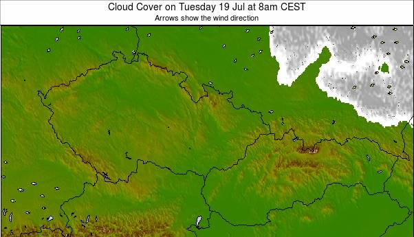 Czech Republic / Slovakia weather map - click to go back to main thumbnail page