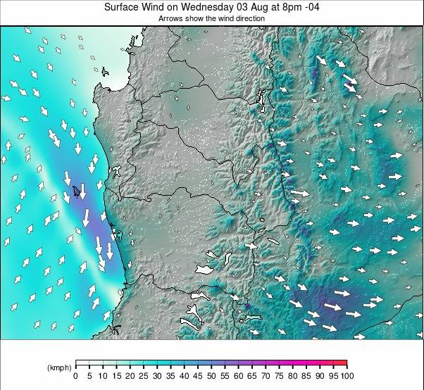 Chillan-Pucon weather map - click to go back to main thumbnail page