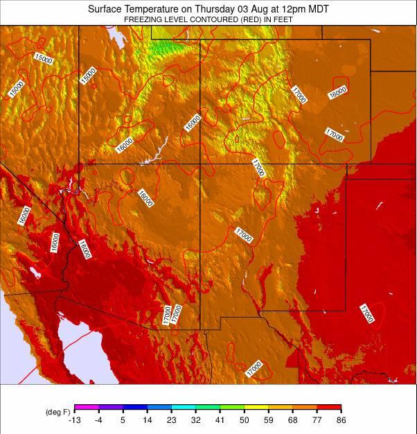Colorado Temperature Forecast