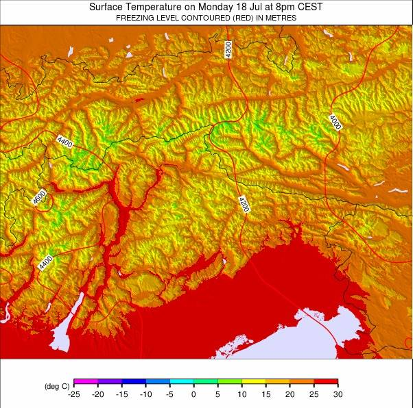 Eastern Alps weather map - click to go back to main thumbnail page