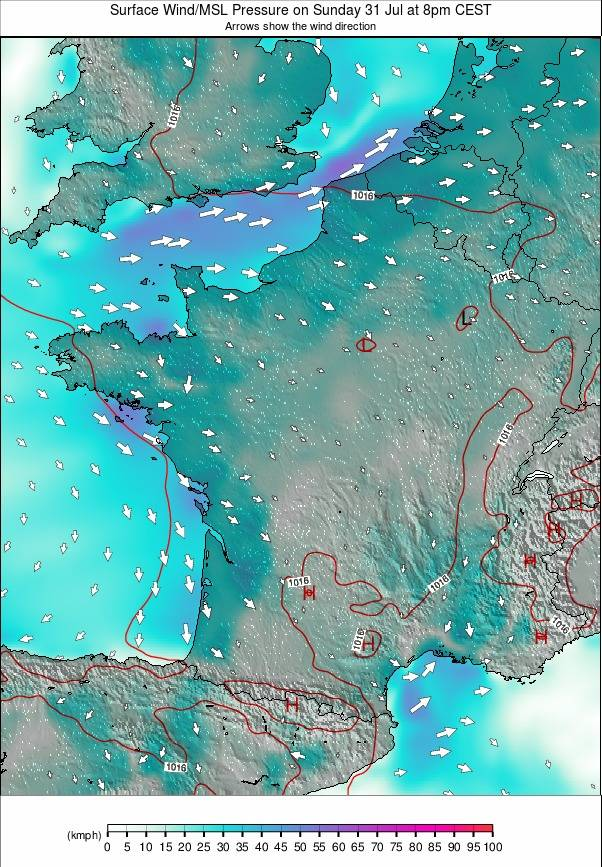 France weather map - click to go back to main thumbnail page