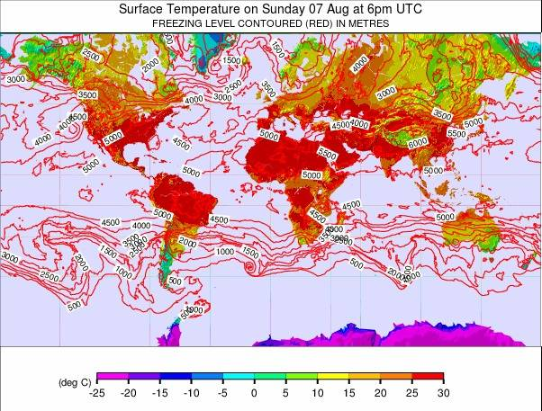 Global - Atlantic View weather map - click to go back to main thumbnail page