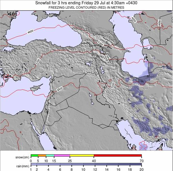 Middle East weather map - click to go back to main thumbnail page