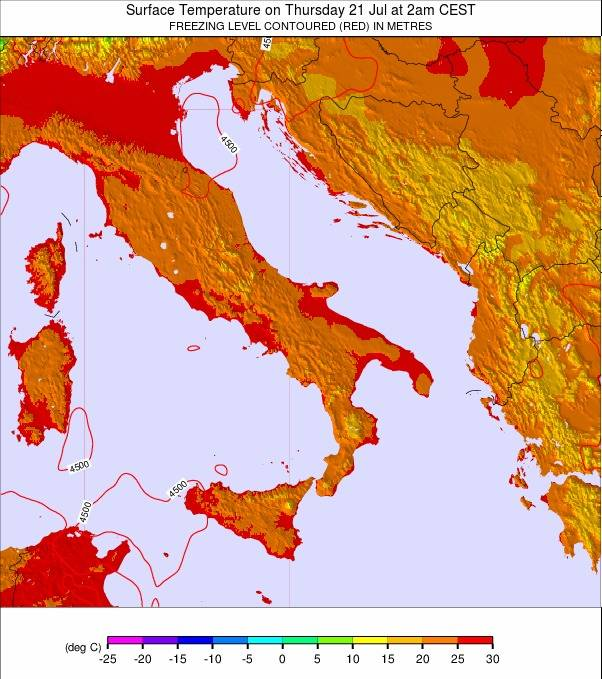 Italy weather map - click to go back to main thumbnail page
