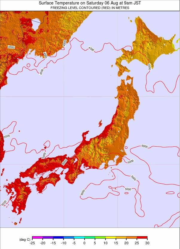 Japan weather map - click to go back to main thumbnail page