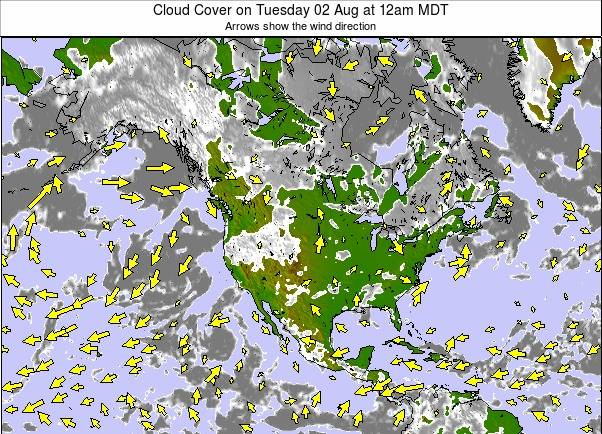 North America weather map - click to go back to main thumbnail page