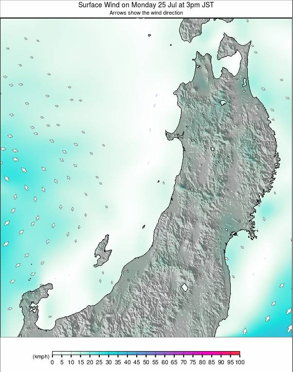 Northern Honshu weather map - click to go back to main thumbnail page