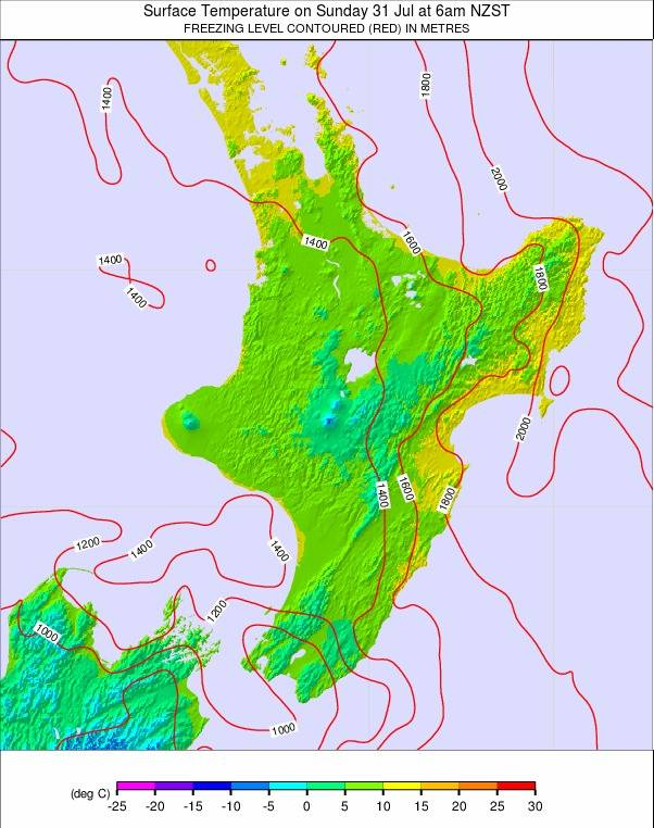 North Island weather map - click to go back to main thumbnail page