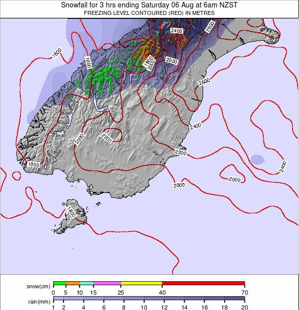 South Island - lower weather map - click to go back to main thumbnail page