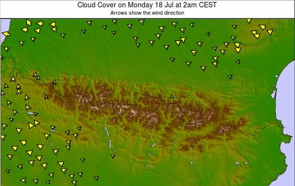 Pyrenees weather map - click to go back to main thumbnail page