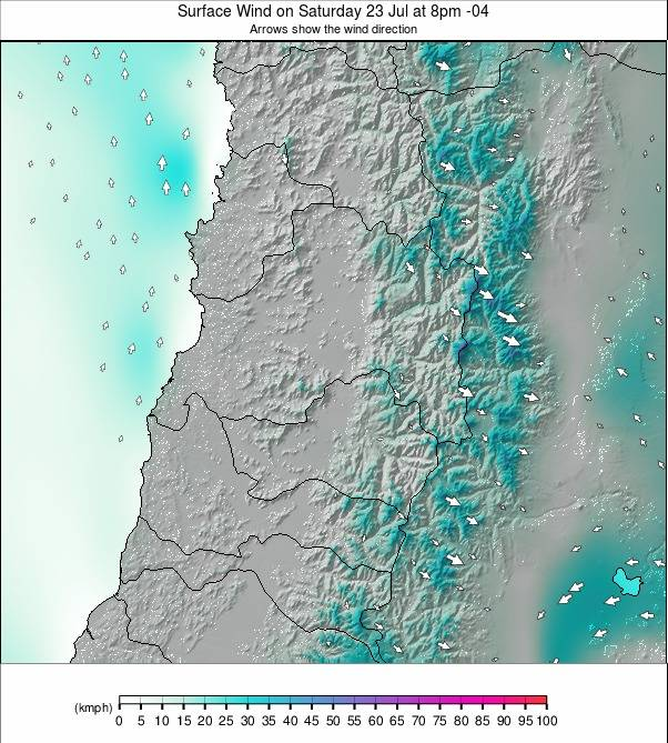 Santiago weather map - click to go back to main thumbnail page
