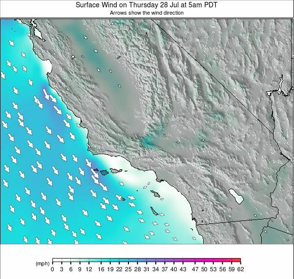 South California weather map - click to go back to main thumbnail page