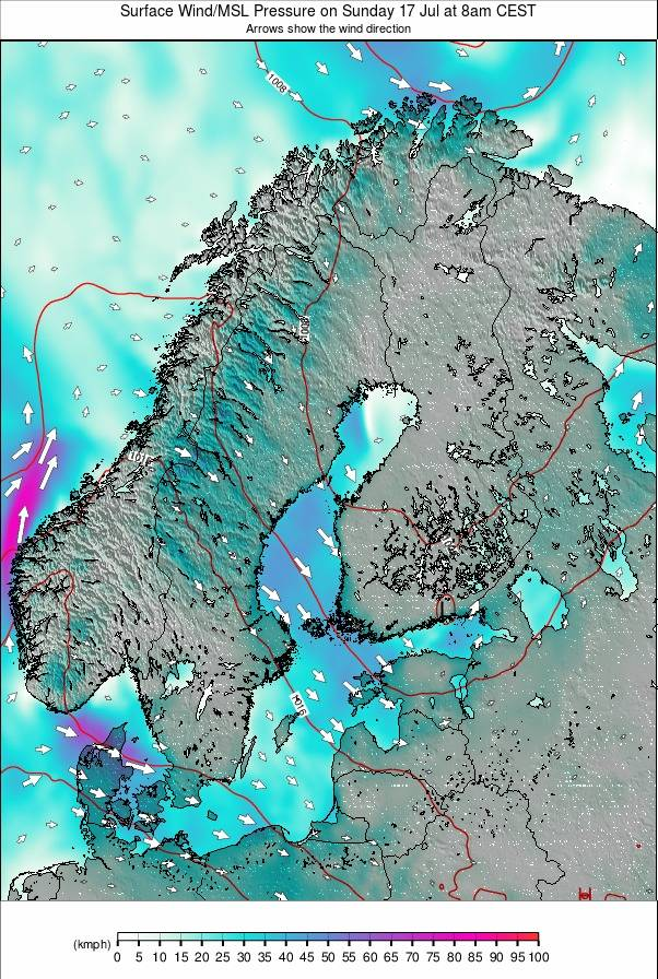 Scandinavia weather map - click to go back to main thumbnail page