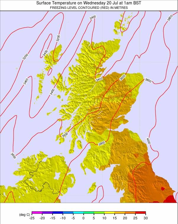 Scotland Weather Map.Scotland Temperature Forecast