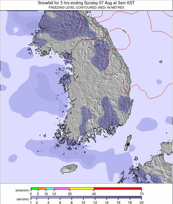 South Korea weather map - click to go back to main thumbnail page