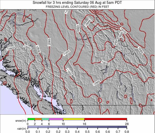 Southwest Canada weather map - click to go back to main thumbnail page