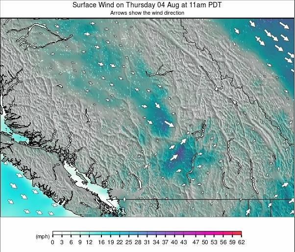 Southwest Canada Wind Forecast