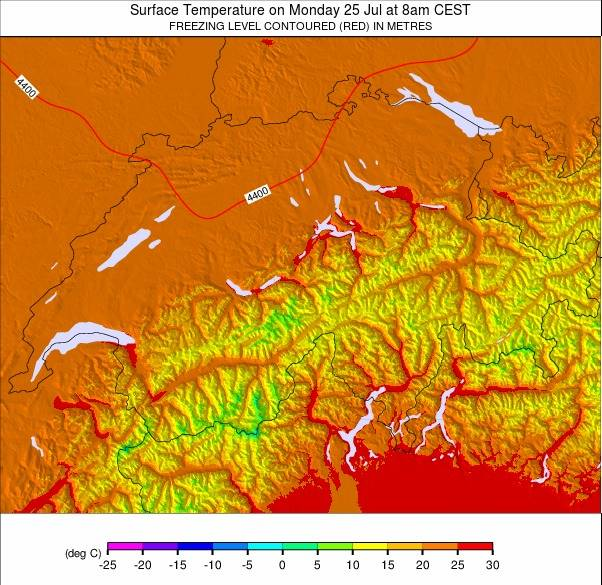 Switzerland Temperature Forecast