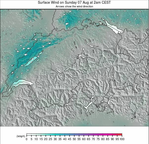Switzerland weather map - click to go back to main thumbnail page