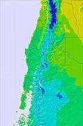 Central Andes temperature map