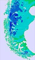 Southern Andes temperature forecast for this period