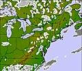 Appalachians and Great Lakes 雲の地図