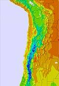 Bolivien temperature map