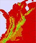 Kolombia temperature map