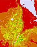 Etiopia temperature map