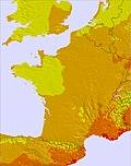 Francia temperature map