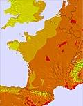 Fransa temperature map