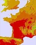 França temperature map