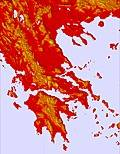 Grecia temperature map
