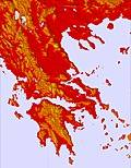 Grèce temperature map