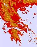 Greece temperature map