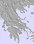 Greece snow map