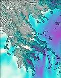Greece wind forecast for this period
